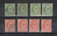 Falkland Islands KEVII 1904 1/2d x 4 1d x 4 MH/VFU J8365