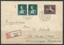 REICH R-Letter 1939 to France-Mi 699-Cat 110$-Transit+arrival cancels-HorseRaces