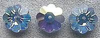 Swarovski Crystal Beads, #3700 Margarita, 12mm, Lt Sapphire AB, 144 pcs Vintage