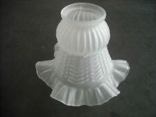 Lampenschirm Glas Glasschirm weiß Ersatz E27 - K0191 - Ø ca. 15 cm Halterung