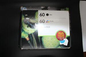 GENUINE HP 60 COMBO PACK N9H63FN NEW INK DJ D2530 F2480 ENVY 110 130