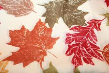 Essential Home 4-Pack Fall Leaves Napkins Orange/Red/Green