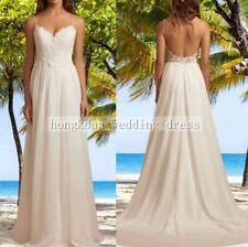Custom Strapless Beach Lace Adorn Ruffled Wedding Dress Bridal Debutante Ball