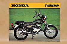 Vintage 1980 Honda CM200 T Twinstar Brochure Specifications