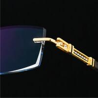 Luxury Man Pure Titanium Glasses Optical Eyeglass Spectacles Rimless RX frame
