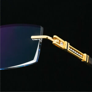 Luxury Man Pure Titanium Glasses Optical Eyeglass Spectacles Rimless RX frame