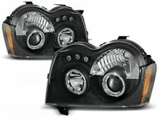 RINGS HEADLIGHTS LPCH06 JEEP GRAND CHEROKEE SUV 2005 2006 2007 2008 BLACK