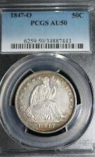 1847-O Seated Liberty Half Dollar : PCGS AU50