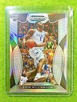 ZION WILLIAMSON SILVER PRIZM ROOKIE CARD RC PELICANS 2019 DUKE JERSEY#1 Prizm DP