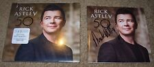 RICK ASTLEY Hand Signed Autographed CD Booklet 50 New never gonna give you up