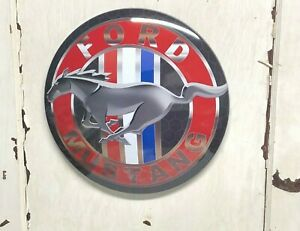 """FORD MUSTANG 17"""" METAL DOME SIGN ~ GARAGE  MANCAVE CAR TRUCK TOOL AUTOMOTIVE"""
