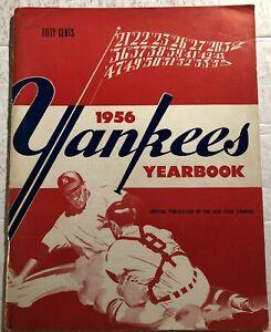 1956 NEW YORK YANKEES Yearbook MICKEY MANTLE Yogi BERRA Whitey FORD Hank BAUER
