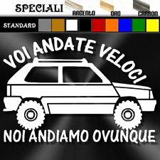 adesivo sticker fiat PANDA 4x4 OVUNQUE offroad 4wd tuning prespaziato,decal