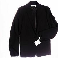NEW Calvin Klein Women's Solid black Single Button Structured Blazer Jacket Coat
