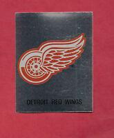 RARE 1987 DETROIT RED WINGS  LOGO FOIL STICKER CARD