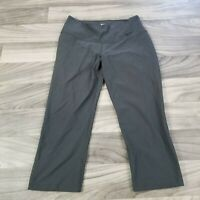 Nike Dri-Fit Womens Size Small Workout Pants Gray Cropped Athleisure Gym