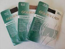 LOT DE 3 PAIRES DE COLLANTS GOLDEN LADY 20 DEN TAILLE 46-48 FIN