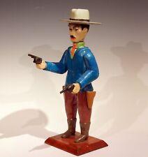 Old Folk Art Sculpture Gunslinger Western Cowboy Gambler Figure Vintage Sheriff