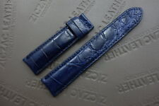 20mm Blue Genuine ALLIGATOR, CROCODILE SKIN LEATHER WATCH STRAP