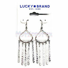 $35 Lucky Brand Antiqued Silver Tone Bohemian Paddle Chandelier Drop Earrings
