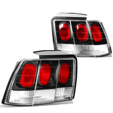 FOR 99-04 MUSTANG/GT SN95 BLACK CLEAR LENS HOUSING ALTEZZA BRAKE TAIL LIGHTS