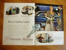 1950 General Motors GM Ad Keys to Reigning Beauty  Cadillac Buick Pontiac Olds?