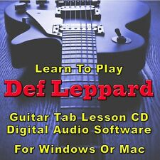 DEF LEPPARD Guitar Tab Lesson Tablature CD Software - 59 Songs