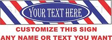 Barber Shop Sign With Custom Name Or Message Barber Shop Barber Aluminum Sign