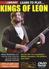 LEARN TO PLAY KINGS OF LEON GUITAR LICK LIBRARY  TUITIONAL TUTORIAL DVD!
