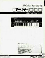 Yamaha DSR-1000 Programmable FM Keyboard Original Service Manual, Schematics