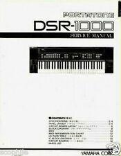 Yamaha DSR-1000 Programmable FM Keyboard Original Service Manual, Schematics