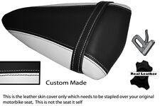 WHITE & BLACK CUSTOM FITS KAWASAKI NINJA ZX6R 07-08 PILLION SEAT COVER