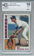 1984 Topps Don Mattingly Rookie #8 New York Yankees BCCG 10