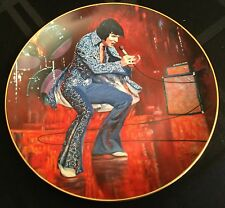 "Elvis Presley In Concert ""Las Vegas"" #2937 Limited Ed Plate w/Original Box & Coa"