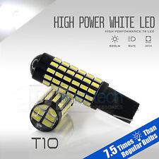 2X T10 78 LEDs High Power Projector LED 6000K White Backup Reverse Light Bulbs