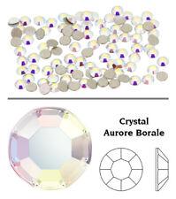 Genuine SWAROVSKI Flat Back Rhinestones Crystal AB Color Nail Art Design Shapes