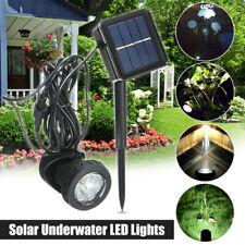 Solarenergie LED Unterwasserstrahler Beleuchtung Garten Teichlampe Brunnen  G