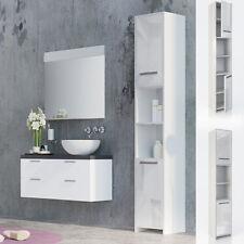 Badezimmer Hochschrank Weiß Hochglanz In Badmöbelsets