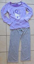 pyjama velours peau de pêche Hello Kitty 14 ans gris mauve