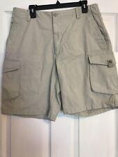 Arrow Vintage Khakis 34W Cream Stone Brown Cargo Shorts NWOT