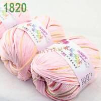 SALE 3 balls x50gr Cashmere Silk velvet Hand Knitting baby Yarn pink Red 1820
