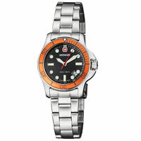Wenger Battalion III Diver Quartz Movement Black Dial Ladies Watch 72339