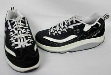 Womens 8.5 M SKECHERS Shape Ups Black/ White Walking Sneakers Athletic Shoes