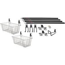 Garage Storage Gardening Kit Utility Hooks Rail Wire Baskets Space Saving Design