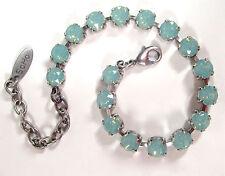 SoHo® Armband geschliffene Kristalle 6mm ss29 crystal pacific opal hellgrün