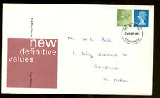 GB Definitives FDC, 24th Sept 1975, Nottingham FDI #C1026