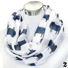 Women Sheep Print Scarf Fashion Farm Animal Lady Wrap Neck Shawl Soft Stole Hot
