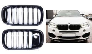 BMW X5 X6 F15 F16 F85 F86 Gloss black kidney grilles grills twin dual camera