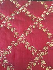 """Silk Embroidery Quilted Burgandy 3 Yards Width 54"""""""