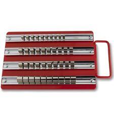 "40pc Socket Tray Rack | 1/4"" 3/8"" 1/2"" Inch Drive Snap Rails Tool Set Organizer"